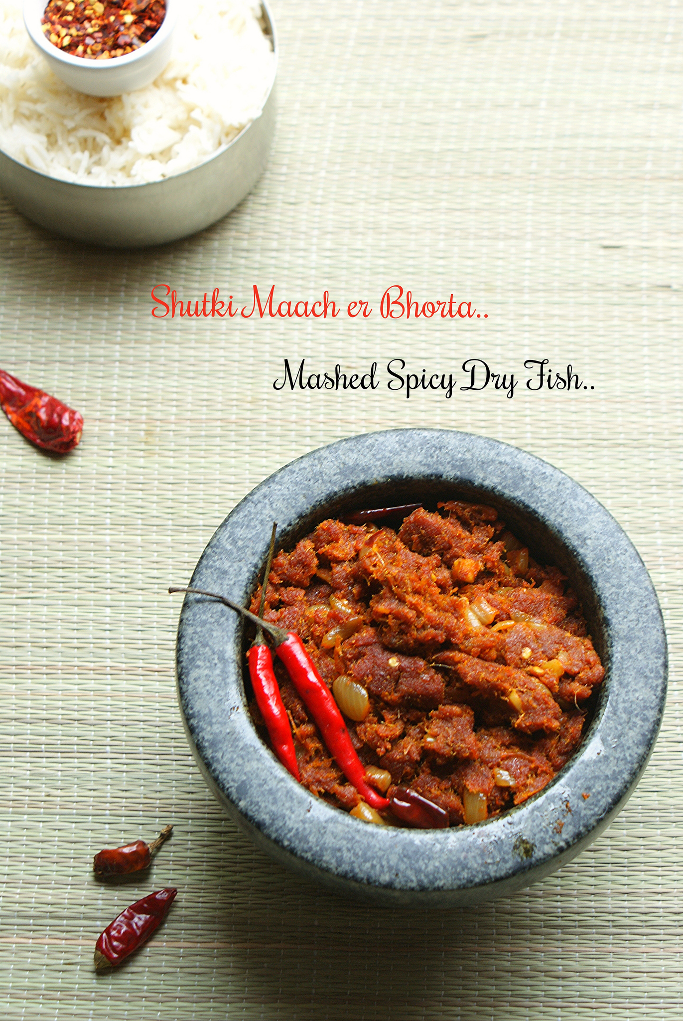 Shutki maach er bhorta mashed spicy dry fish is dry for Dry fish recipe