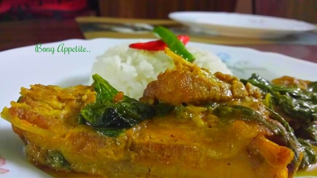 fish with mustard greens